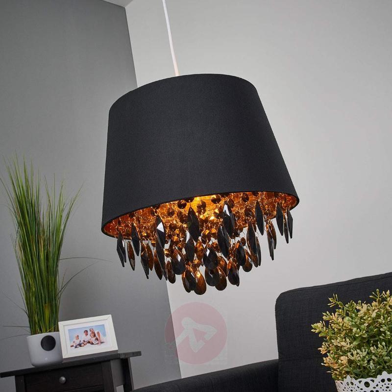 Dolti hanging light with black adornment - Pendant Lighting