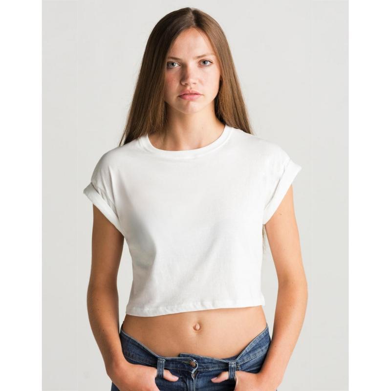 Tee-shirt femme court - Manches courtes