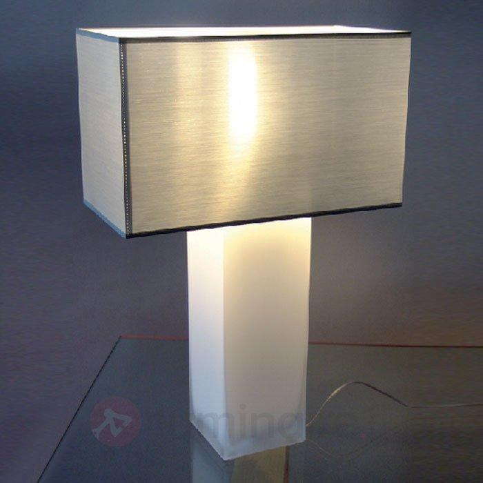 Lampe à poser coloris alu STEFANIE pied opale - Lampes à poser pour rebord de fenêtre