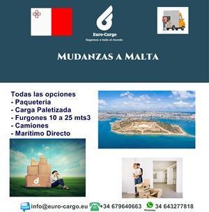 Mudanzas a Malta - Desde España y otros países de la Unión Europea