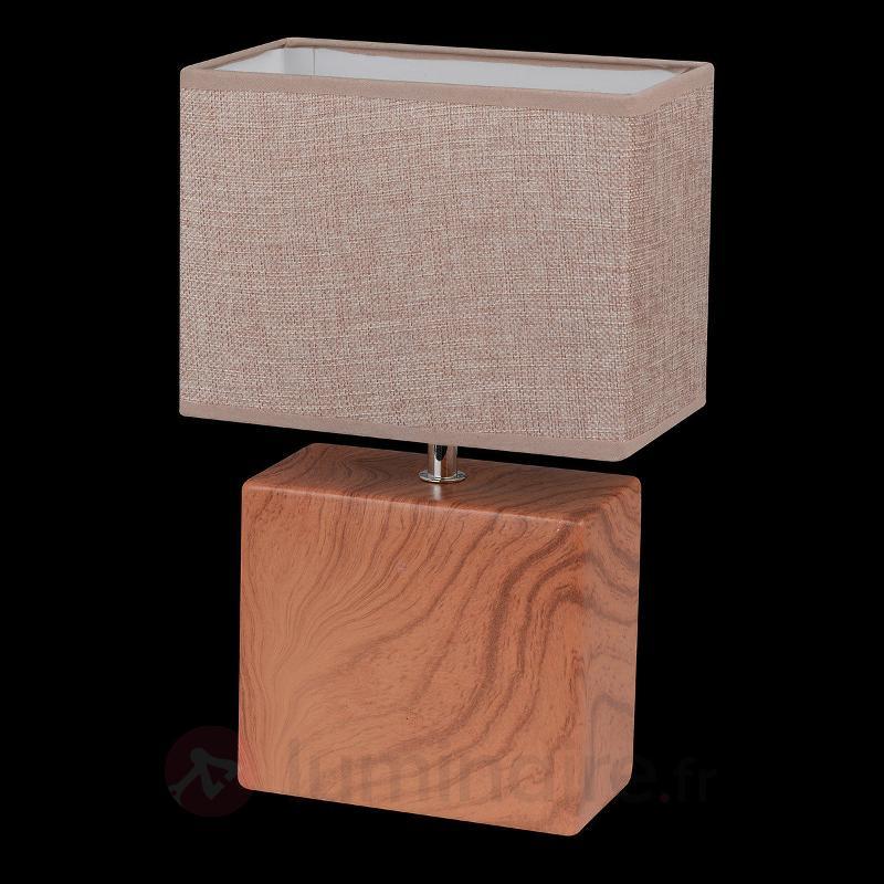 Lampe à poser Log en parallélépipède, 32 cm - Lampes à poser en tissu