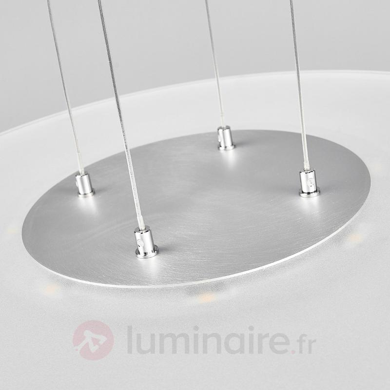 Suspension LED Dora avec abat-jour en verre rond - Suspensions LED