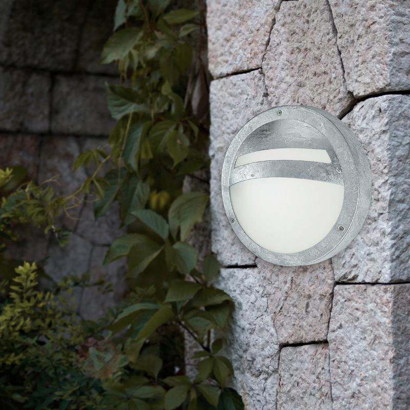 Applique d'extérieur ronde SEVILLA acier zingué - Appliques d'extérieur inox