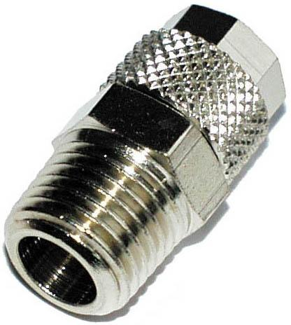 """G-ES 15/12,5 R1/2"""" tap. push in connecto - Imperial screw-in thread BSPT beveled"""