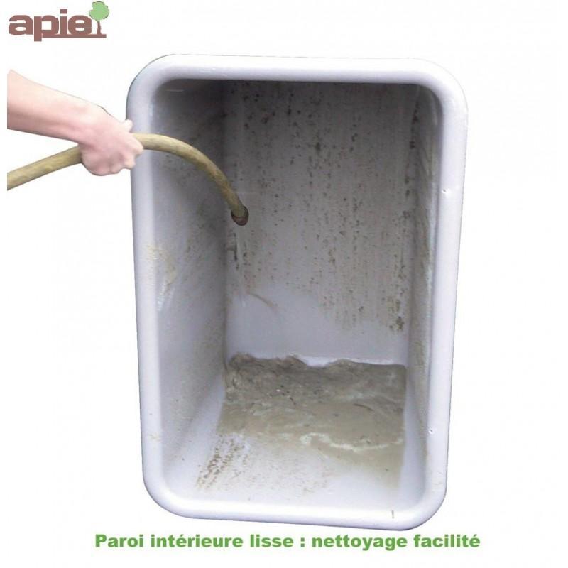 Bac de manutention avec roulettes Coloris Vert - Référence : BAC/1192