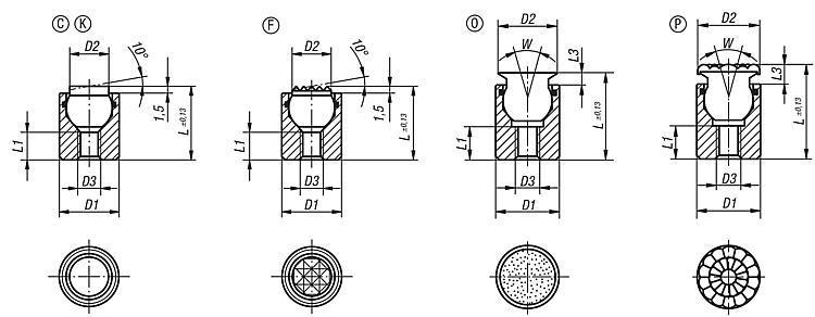 Support à bille oscillante avec joint torique intégré - Support à bille oscillante