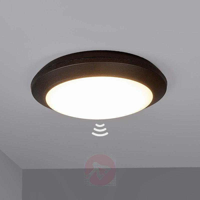 Sensor ceiling light Umberta black 11W 3,000 K - Ceiling Lights with Sensor