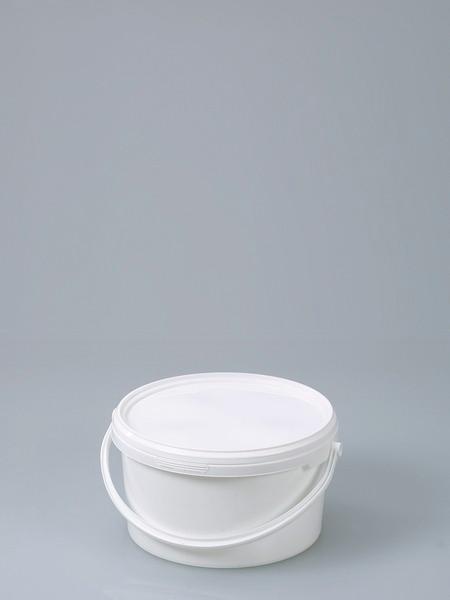 Packaging bucket - Plastic bucket, PP, white, air-tight closure