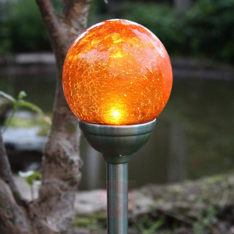 Roma - solar ground spike light with amber LED - outdoor-led-lights