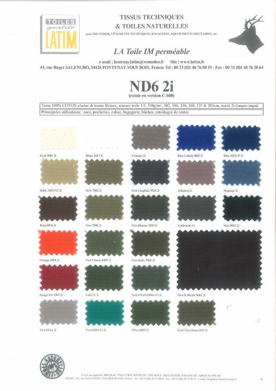 ND6 2i - Toiles naturelles