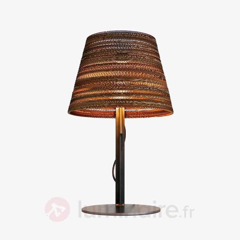 Lampe à poser Tilt en carton recyclable - Toutes les lampes à poser