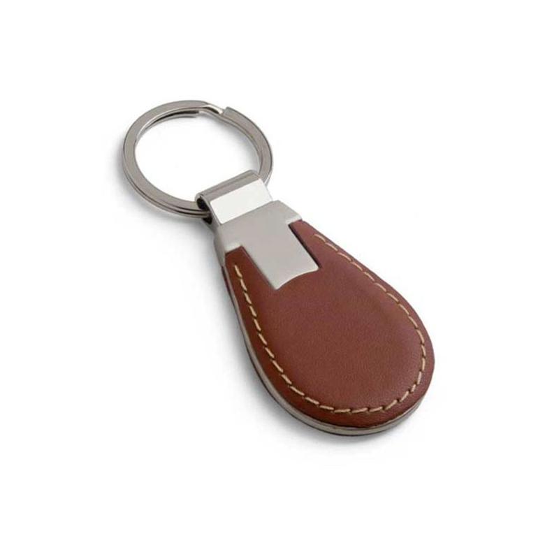Porte cl s brun simili cuir et m tal porte cl s m tal rue du print france - Aux portes du metal ...