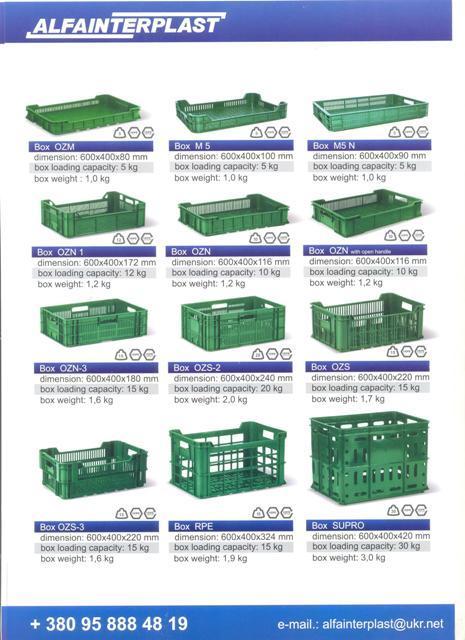 Ящики пластиковые для овощей - Ящики HDPE пластиковые для овощей, фруктов, ягод
