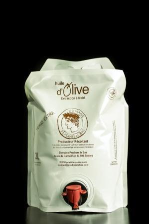 Huile d'Olive Vierge Extra Cuvée Margaux 3L - Produits oléicoles
