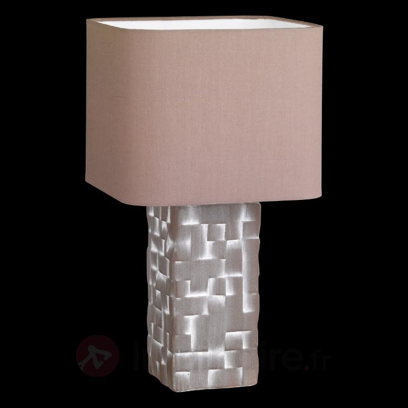 Lampe à pose carrée Mesh - Lampes à poser en tissu