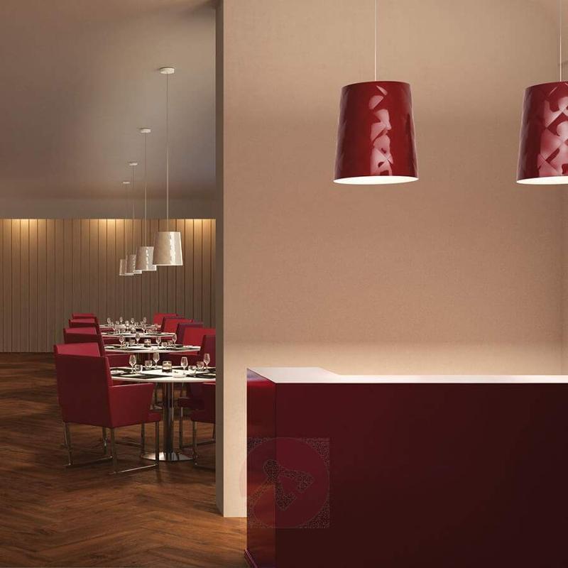 New York 33 red designer pendant light - Pendant Lighting