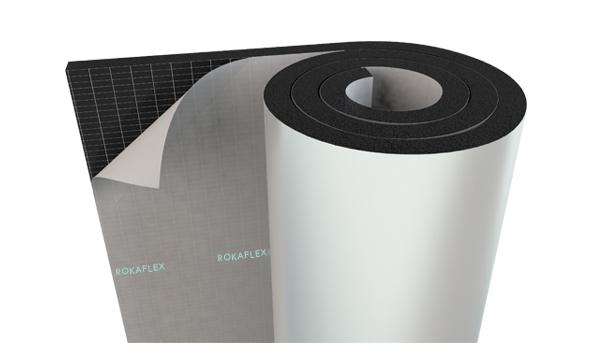 Roka Flex elastomeric rubber foam insulation rolls - Coated with Self-adhesive layers, Aluminum foil, PVC,