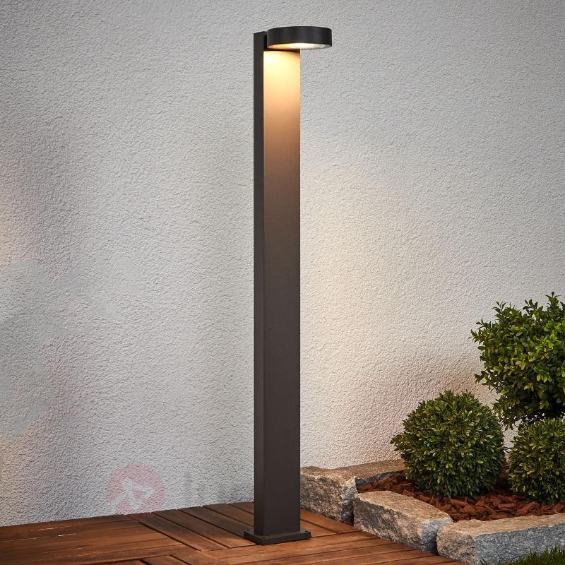 Borne lumineuse gris foncé LED Ksenia aluminium - Bornes lumineuses LED
