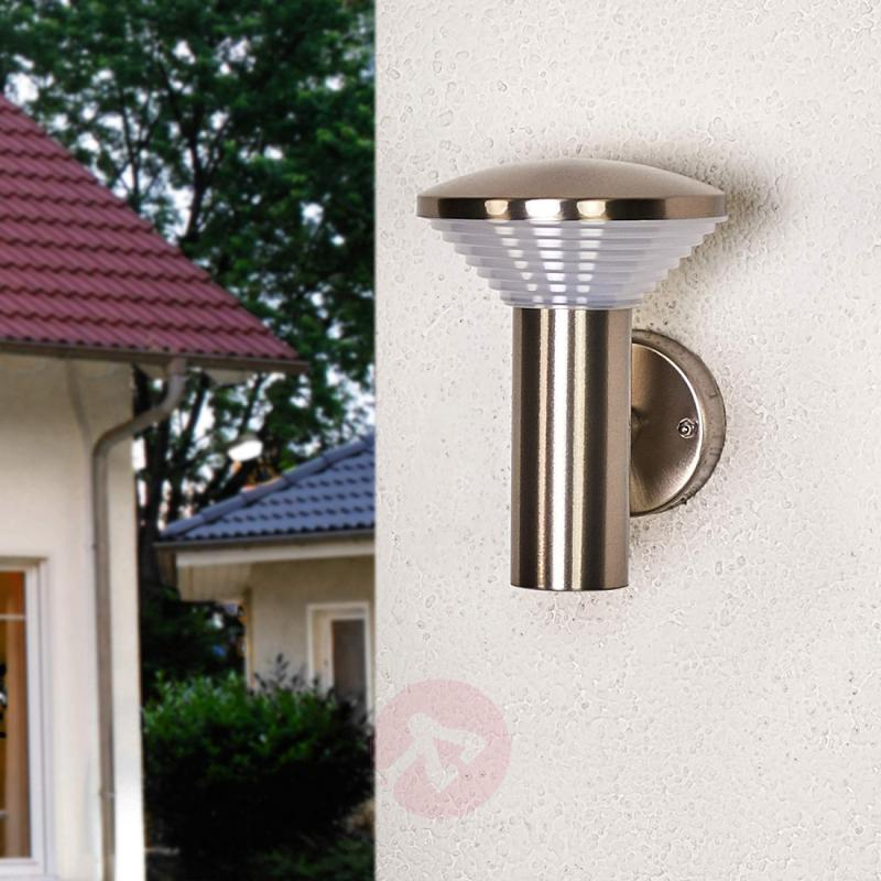 Stainless steel outdoor wall lamp Tiga with LEDs - outdoor-led-lights
