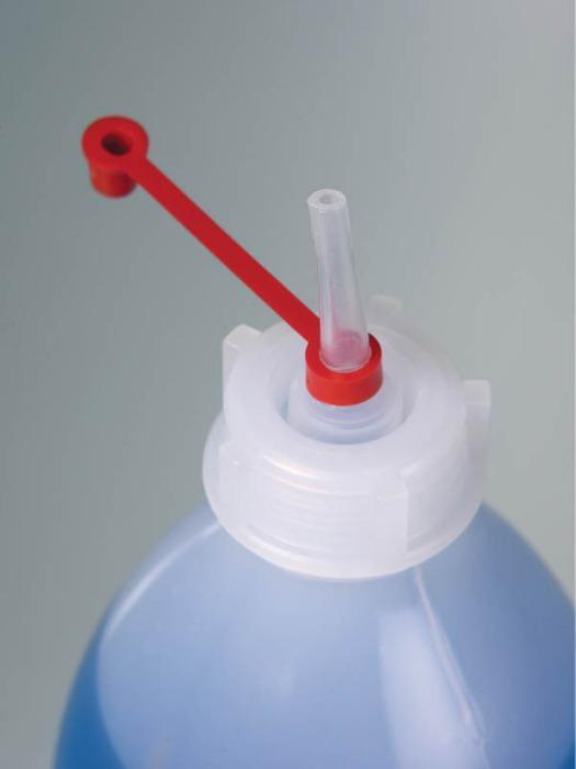 Botellas cuentagotas - Frasco de plástico, LDPE, tapón cautivo y tapón cuentagotas PE