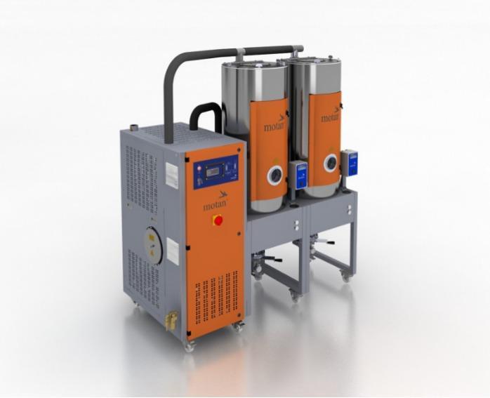Сушилка сухим воздухом - LUXOR S - Сушильная станция, генератор сухого воздуха, сушильный бункер для гранул