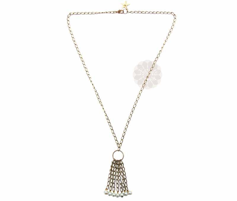 Silver Ring Pearl Drop Pendant -