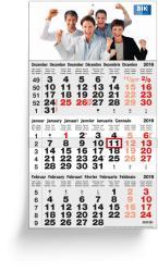 3 Months calendars - 3 Months Classic Grey German Edition