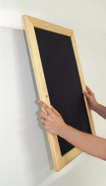 Wood Displays - Cadre Bois une face avec Tableau Noir