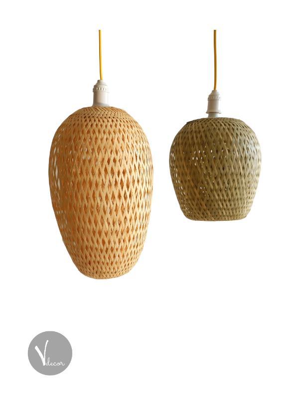 Double Layer Bamboo Pendant Light - Shop