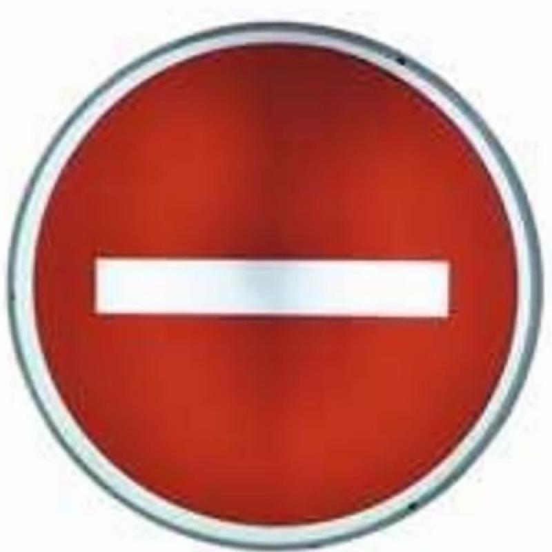 """Panneau de signalisation lumineux """"Sens interdit"""" - Aménagement de la chaussée"""