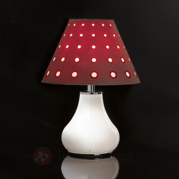 Lampe à poser tendance BOOGIE, bordeaux - Lampes à poser en tissu
