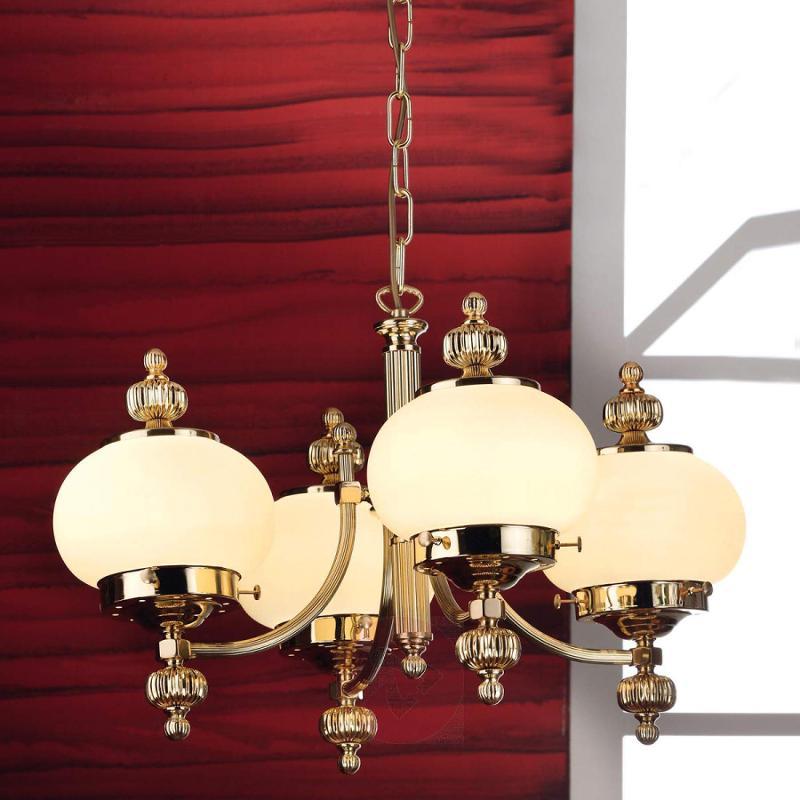 Classic Ophelia chandelier, 4-bulb - design-hotel-lighting