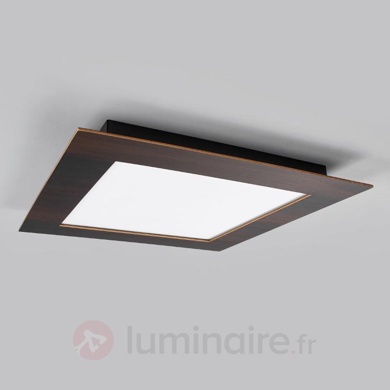 Panneau LED sombre Deno en bois, chêne colonial - Plafonniers LED