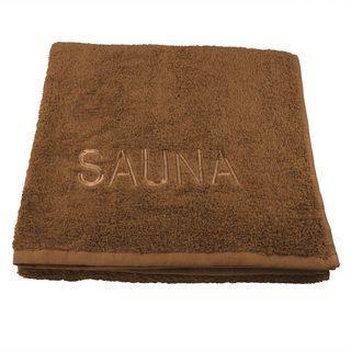 Saunatuch mit Stickerei 70x200cm Farbe: Schoko - null