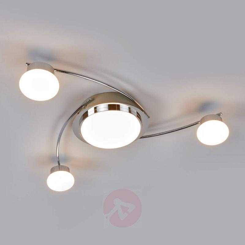 Chrome-plated LED ceiling light Vitus - indoor-lighting