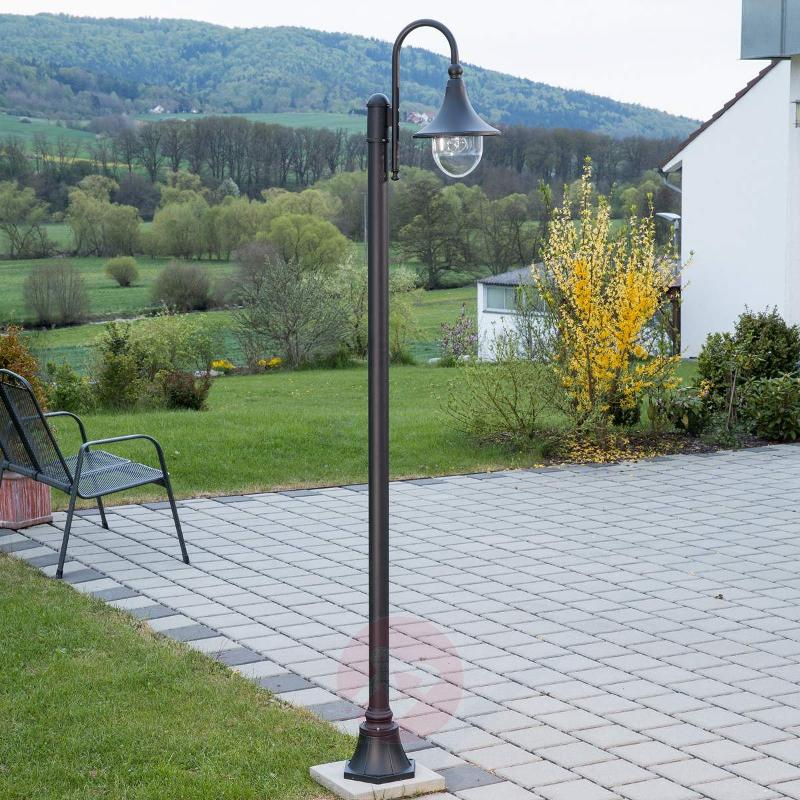 Daphne black post light - Pole Lights