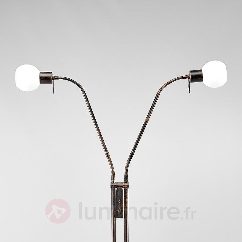Lampadaire LED Elaina couleur rouille - Lampadaires LED