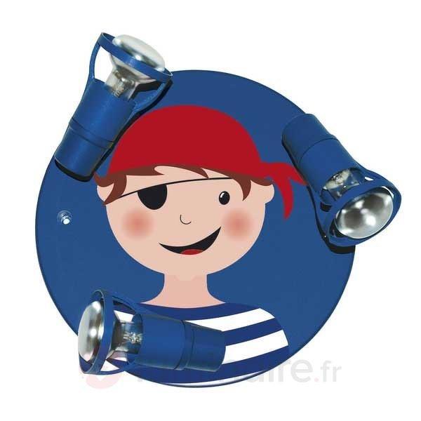 Plafonnier bleu PIRAT - 3 lampes - Chambre d'enfant
