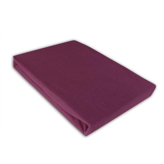 Jersey Spannbettlaken 140-160x200cm Farbe: Aubergine - null