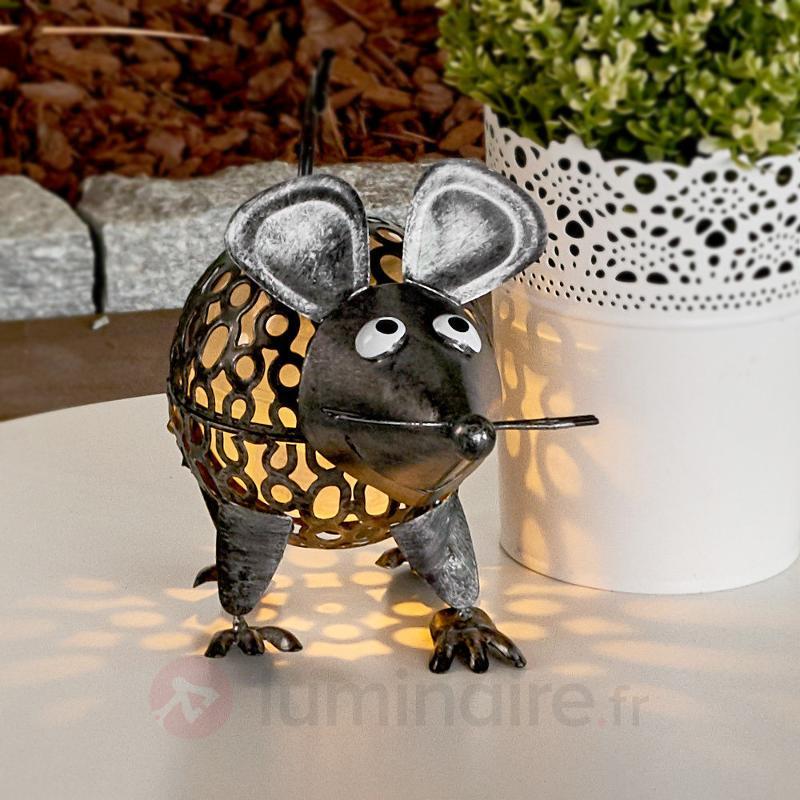 Souris - lampe solaire décorative avec LED - Lampes solaires décoratives