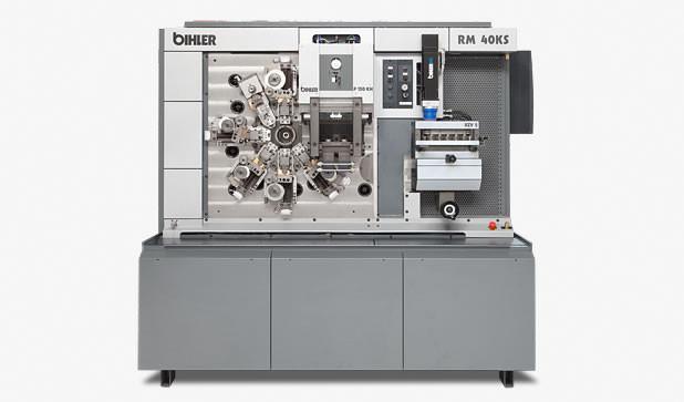 Mechanischer Stanzbiegeautomat - RM 40KS - Stanzbiegeautomat RM 40KS mit 150 kN-Presse für Hartmetallwerkzeuge.