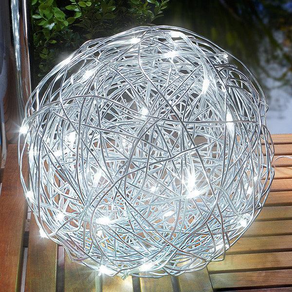 Lampe d'extérieur LED solaire Alu-Wireball - Lampes solaires décoratives