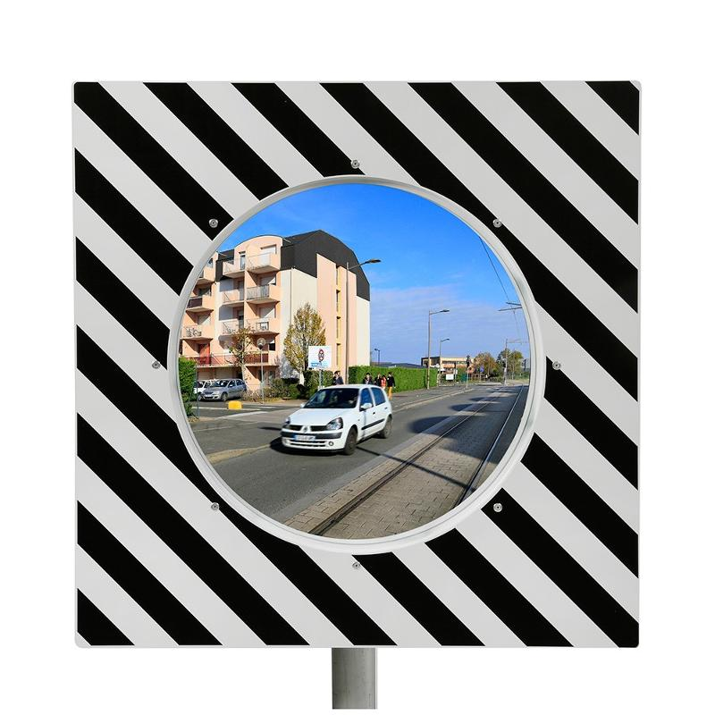 Miroir de circulation routière 90° Ecochok - Mobilier urbain