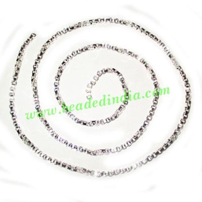 Silver Plated Metal Chain, size: 2.5mm, approx 36 meters in  - Silver Plated Metal Chain, size: 2.5mm, approx 36 meters in a Kg.