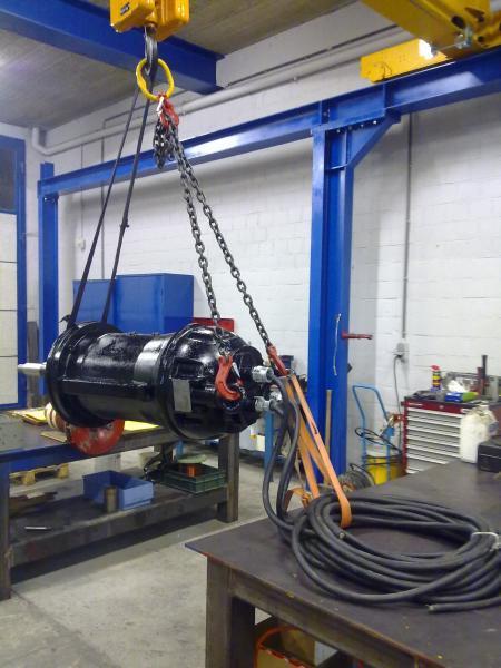 Moteur de pompe immergée - Maintenance électro-mécanique en atelier