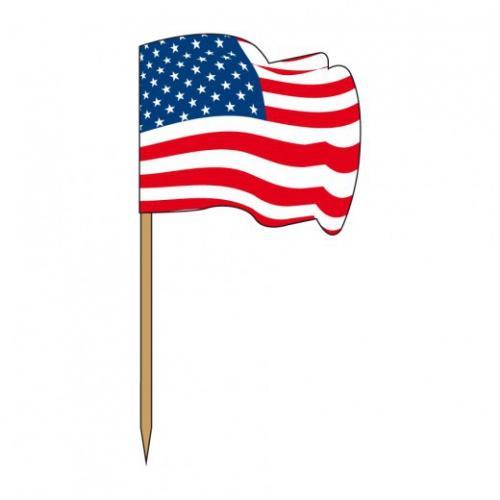 Pique drapeau en bois USA