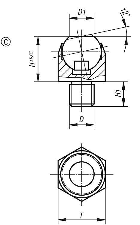 Supporti oscillanti angolo di inclinazione 12 - K0302