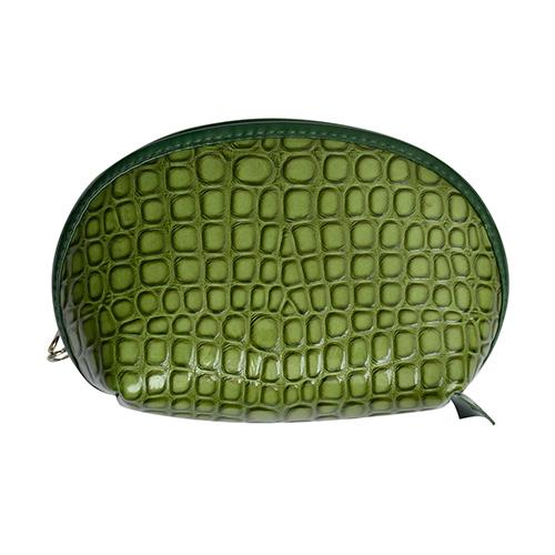 Portable Crocodile Leather Makeup Pouch Bags