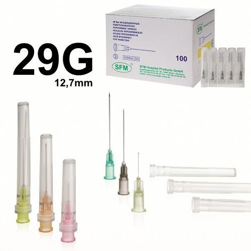 SFM Einweg Einmal Kanülen 29G (0,33 mm x 12,7 mm) (100) - null