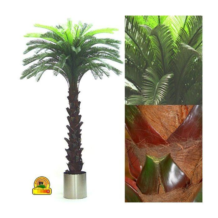 Kunst Cycas palm 300cm Speciaal voor buiten UV Safe en Water -